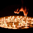 Stock Photo: Candles in the dark