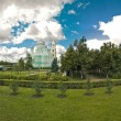 Diveevsky monastery. Panoramic view from grooves. — Stock Photo #28924739
