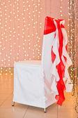 Chair in celebratory — Stock Photo
