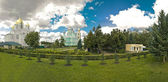 Diveevsky monastery. Panoramic view from the grooves. — Stock Photo