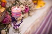 Violet candle. — Stock Photo