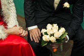 Bouquet in hands. — Stock Photo