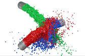 Rgb malování splash — Stock fotografie