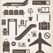 Airport icons — Stockvectorbeeld