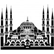 The Blue Mosque, Istanbul — Stock Vector