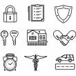 Royalty-Free Stock Vector Image: Handshake insurance icons