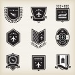 Plane aviation badges - Stockvektor