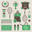 Vector tennis icons — Stock Vector #23212500