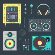 DJ icons — Stock Vector #23213308