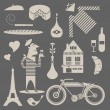 Stock Vector: French icons