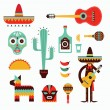 Mexico icons — Stock Vector #23213462