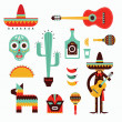 Stock Vector: Mexico icons