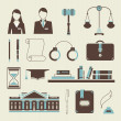 Law icons — Vector de stock #23213734