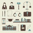 Law icons — Image vectorielle
