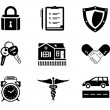 Handshake insurance icons - Stockvektor