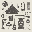 Vector camping icons - Stockvektor