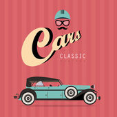 Vector vintage classic car — Stock Vector