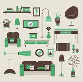 Living room vector — Stock Vector