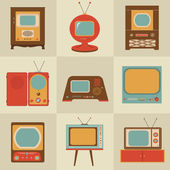 Retro vintage Tv set — Stock Vector