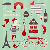 French icons — Stock Vector
