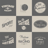 Vintage car racing badges — Stock Vector
