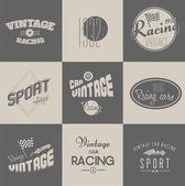 Vintage car racing badges — Stock Vector
