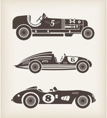 Vector vintage sport racing cars — Stock Vector
