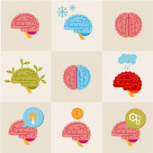 Brain icons — Stock Vector