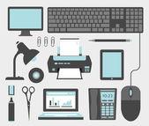 Iconos de oficina — Vector de stock