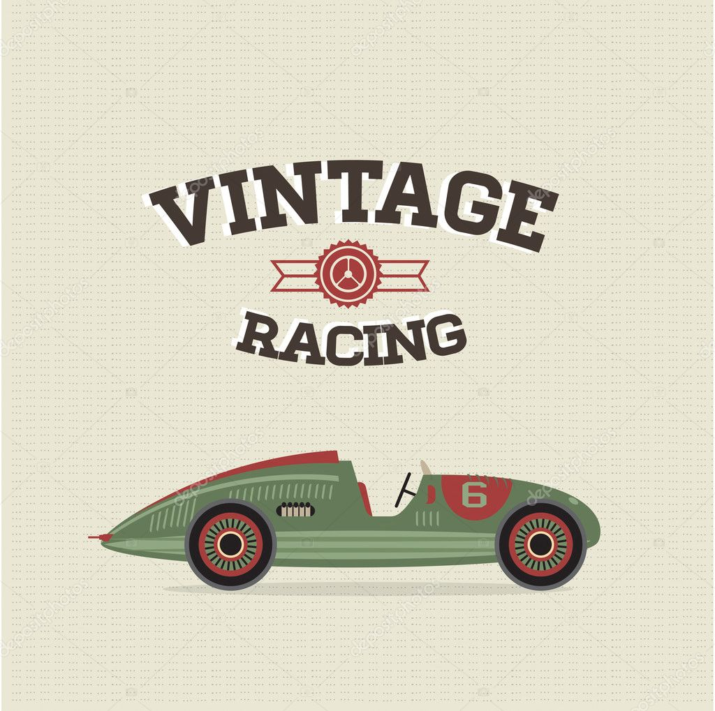 Vintage race car racing ri
