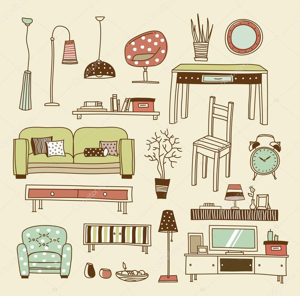 Vector Of Living Room Stock Vector Image Of Sofa: Stock Vector © Vectorpro #23212370