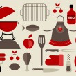 Stock Vector: Barbecue icons