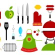 Barbecue icons — Stock Vector #23542721