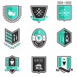 Stock Vector: Dentist badges