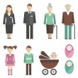 Family icons — Stockvectorbeeld