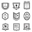Golf Emblems - Stock Vector