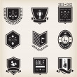 Golf Emblems — Stock Vector