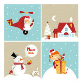 Chrismas card — Stock Vector