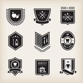 Dentist badges — Stock Vector