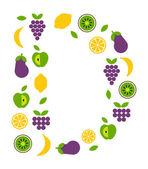 Fruit icons — Stock vektor