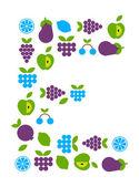 Fruit icons — Cтоковый вектор