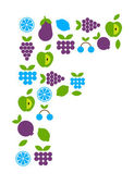 Frukt ikoner — Stockvektor