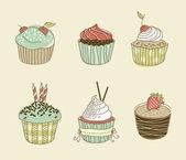 Cupcakes — Διανυσματικό Αρχείο