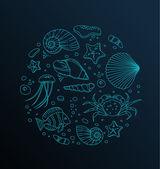 Sea collection — Stock Vector