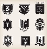 Sport emblems — Stock Vector