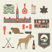 Canada icons — Stock Vector