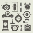 Vector clock icons set — Stock vektor