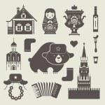 ruské ikony — Stock vektor