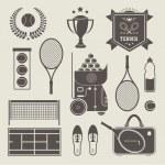 Vector tennis icons — Stock Vector
