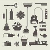 Simgeleri temizleme — Stok Vektör
